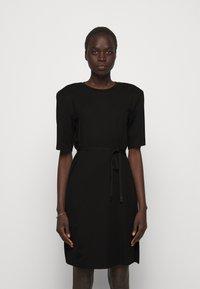 DESIGNERS REMIX - MODENA SLIT DRESS - Žerzejové šaty - black - 0