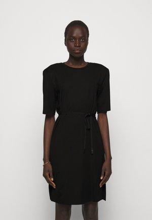 MODENA SLIT DRESS - Jerseykjoler - black