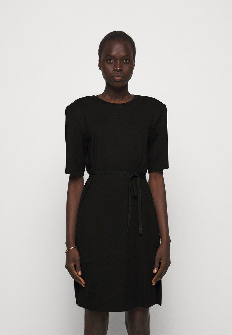 DESIGNERS REMIX - MODENA SLIT DRESS - Žerzejové šaty - black