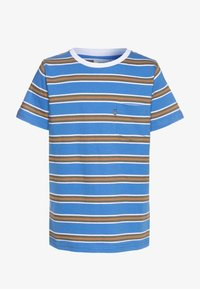 Mads Nørgaard - SUMMER STRIPE TROLINO - T-shirts print - palace blue - 0