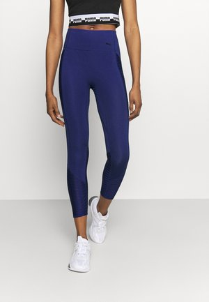 TRAIN FLAWLESS FOREVER HIGH WAIST 7/8 - Medias - elektro blue