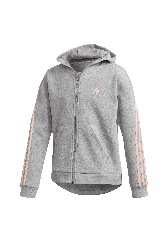 Adidas Branded Knit Kapuzenjacke Trainingsjacke Kinder Haze