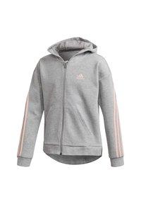 adidas Performance - STRIPES FULL-ZIP HOODIE - Zip-up hoodie - grey - 2