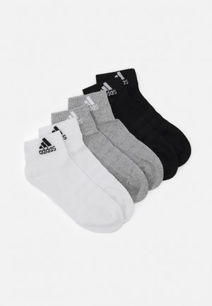 CUSH ANK UNISEX 6 PACK - Sports socks - medium grey heather/white