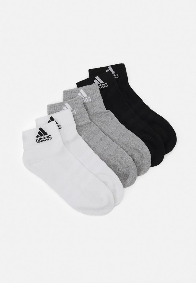 CUSH ANK UNISEX 6 PACK - Calcetines de deporte - medium grey heather/white