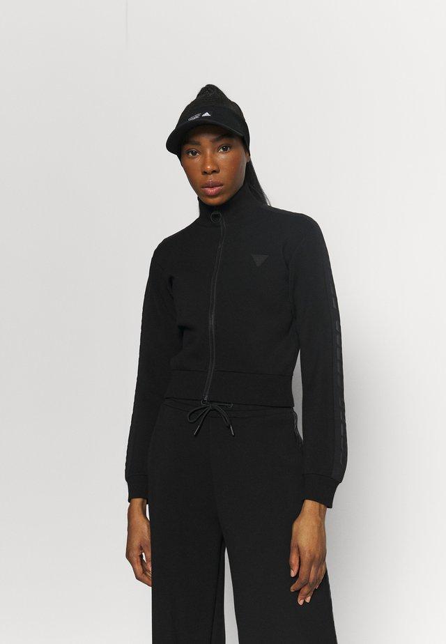 FULL ZIP - veste en sweat zippée - jet black