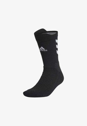 ALPHASKIN MAXIMUM CUSH PRIMEGREEN CREW - Sports socks - black