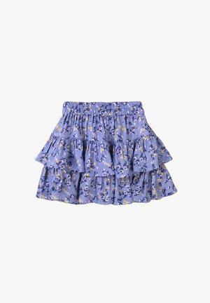 ELASTICATED WAITBAND  - A-line skirt - light blue aop