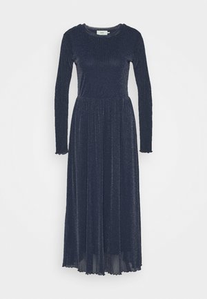 MARISAN - Day dress - navy/blue with silver