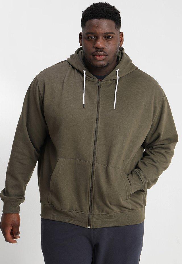 CAPSULE FULL ZIP HOODED TOP - Zip-up hoodie - khaki