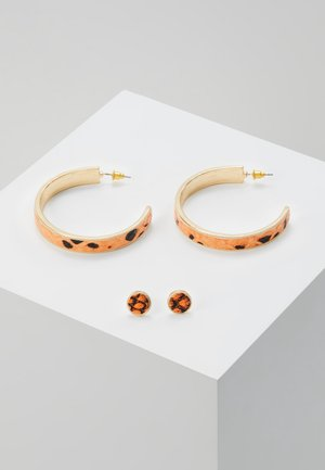 INLAY HOOP AND STUD - Boucles d'oreilles - orange/black