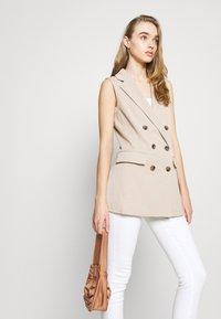 ONLY - ONLIVY WAISTCOAT  - Waistcoat - beige - 5