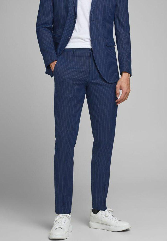 SUPER SLIM FIT - Pantaloni eleganti - dark navy