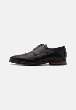 LETO - Smart lace-ups - schwarz
