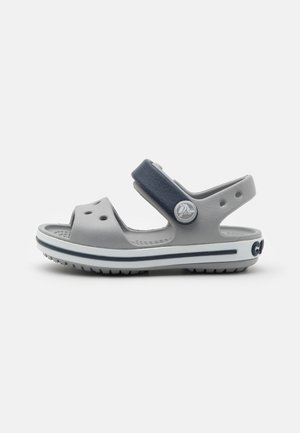 CROCBAND KIDS UNISEX - Pool slides - light grey/navy
