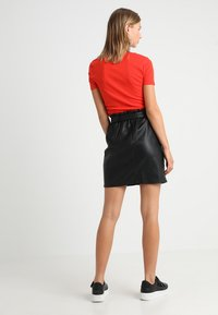 ONLY - Leather skirt - black - 3