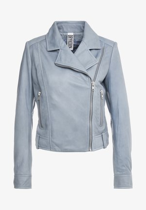 PAISLY - Leather jacket - mint