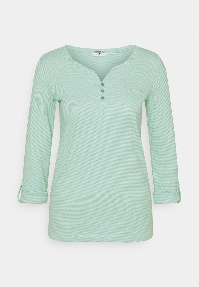 Long sleeved top - offwhite/green