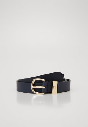 OVAL BUCKLE BELT - Vyö - blue