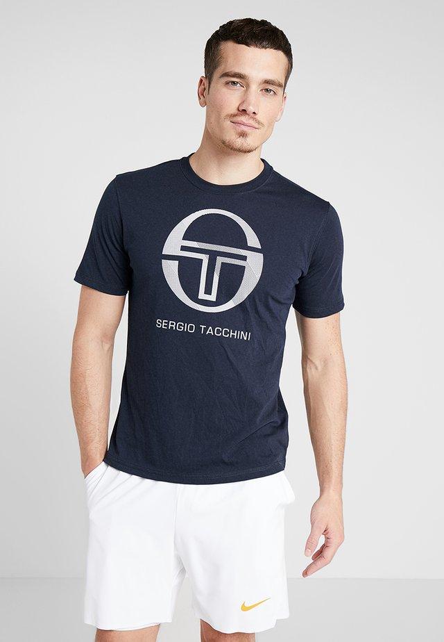 NEW ELBOW - Print T-shirt - navy