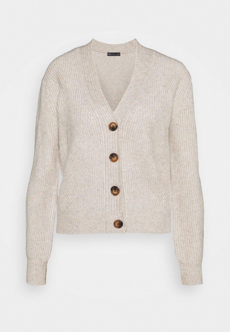 Marks & Spencer London - CARDI - Cardigan - beige