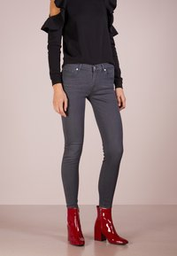 7 for all mankind - CROP - Jeans Skinny Fit - bair smoke grey - 0