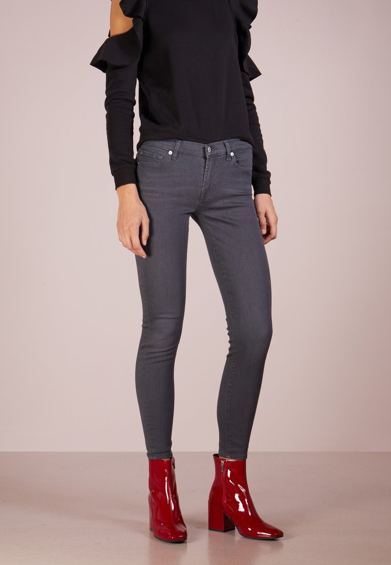 7 for all mankind - CROP - Jeans Skinny Fit - bair smoke grey