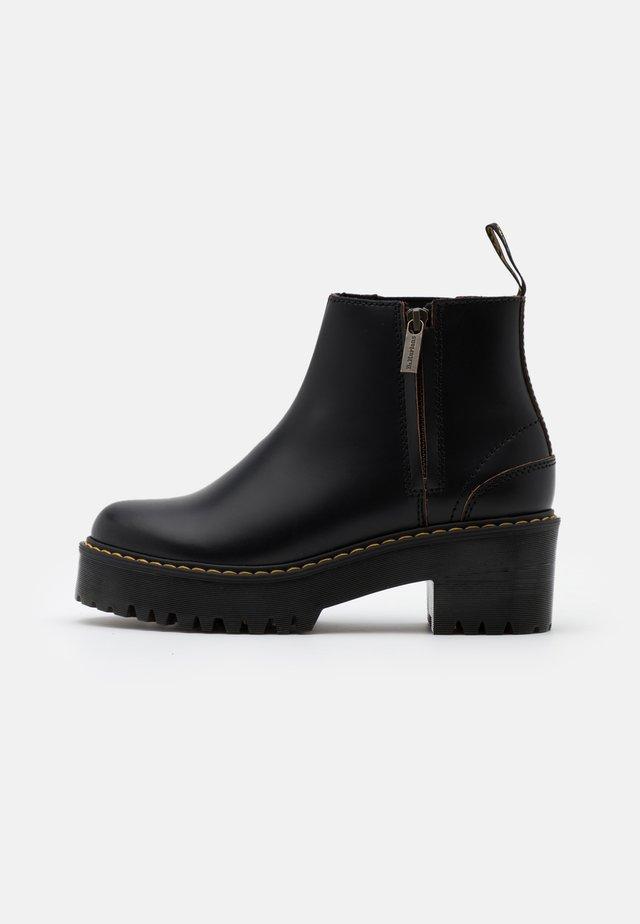 ROMETTY  - Platform ankle boots - black vintage smooth
