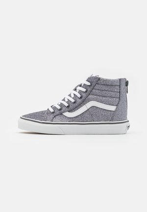 SK8 ZIP - High-top trainers - glitter pewter/true white