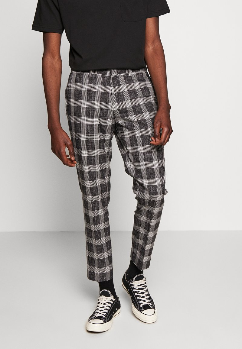 Burton Menswear London - CHECK - Kalhoty - black