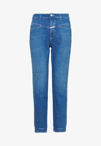 CLOSED - PEDAL PUSHER HIGH WAIST CROPPED LENGTH - Džíny Relaxed Fit - mid blue - 5