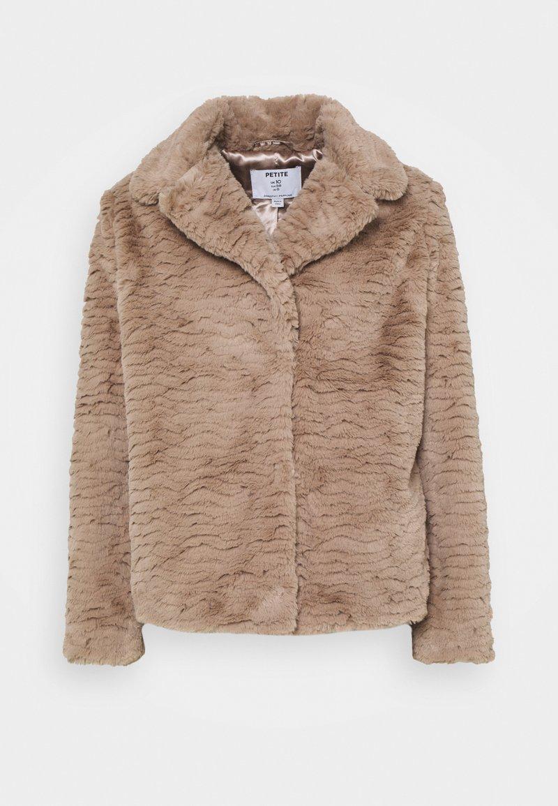 Dorothy Perkins Petite - WAVE COLLAR AND REVERE COAT - Winter jacket - mink