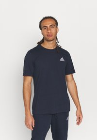 adidas Performance - ESSENTIALS - T-shirts basic - legend ink - 0