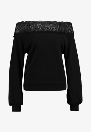 ONLMILA OFF SHOULDER - Sweatshirt - black