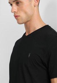 AllSaints - TONIC V-NECK - Basic T-shirt - jet black - 3