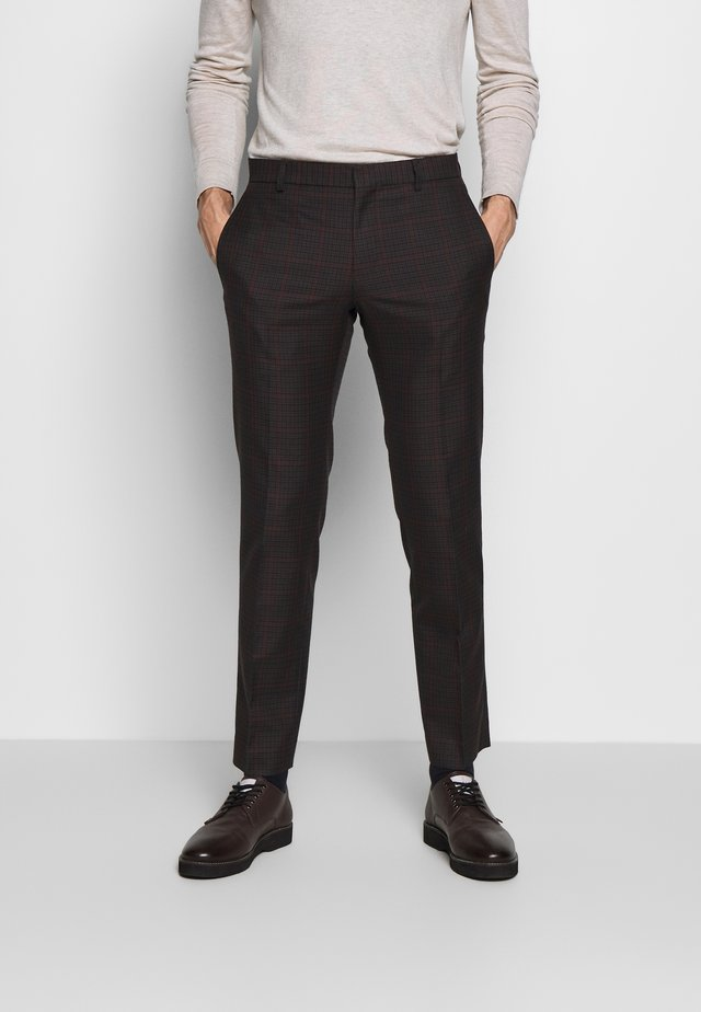 HERITAGE CHECK - Trousers - grey