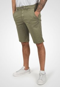 Solid - RON - Denim shorts - dusty olive - 0