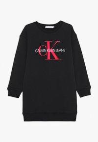 Calvin Klein Jeans - MONOGRAM SWEATSHIRT DRESS - Vestito estivo - black - 0