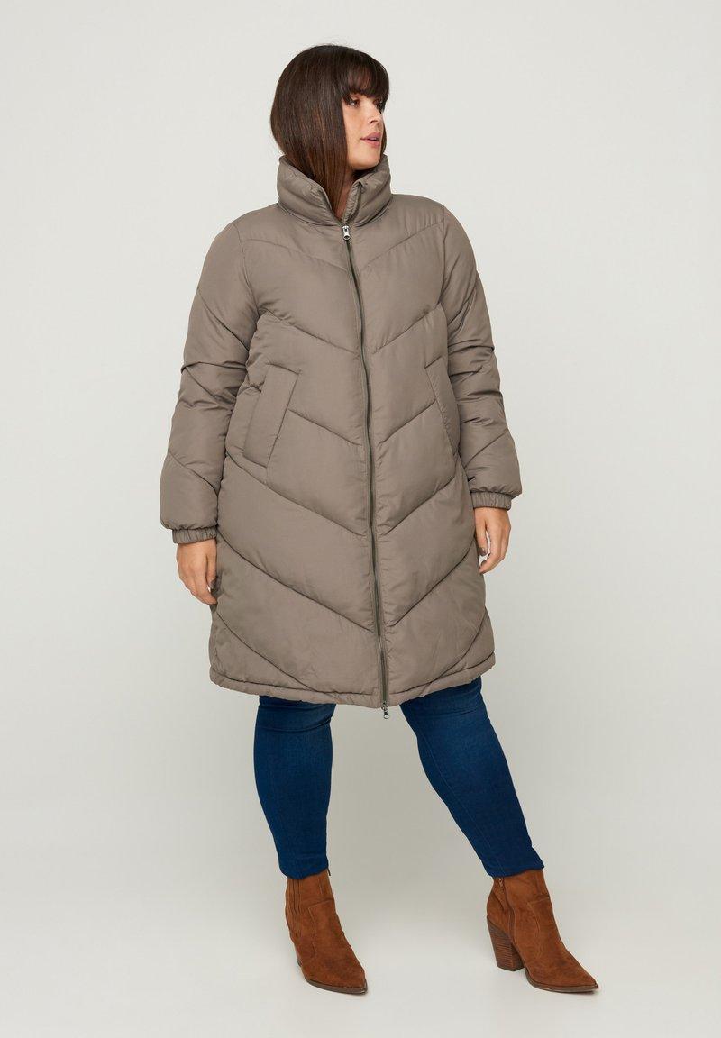 Zizzi - Winter coat - green