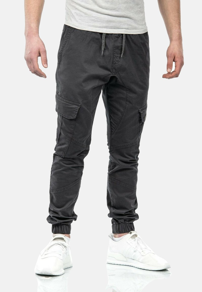 Alessandro Salvarini - Cargo trousers - anthrazit
