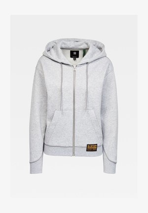 PREMIUM CORE HOODED ZIP THRU LONG SLEEVE - Hoodie met rits - grey htr