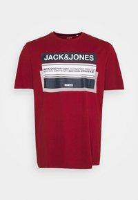 Jack & Jones - JCOBOOSTER TEE CREW NECK - Print T-shirt - sun-dried tomato - 0