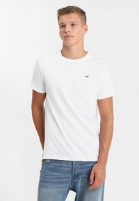 Hollister Co. - CREW CHAIN 3 PACK - Basic T-shirt - black/white/grey - 1