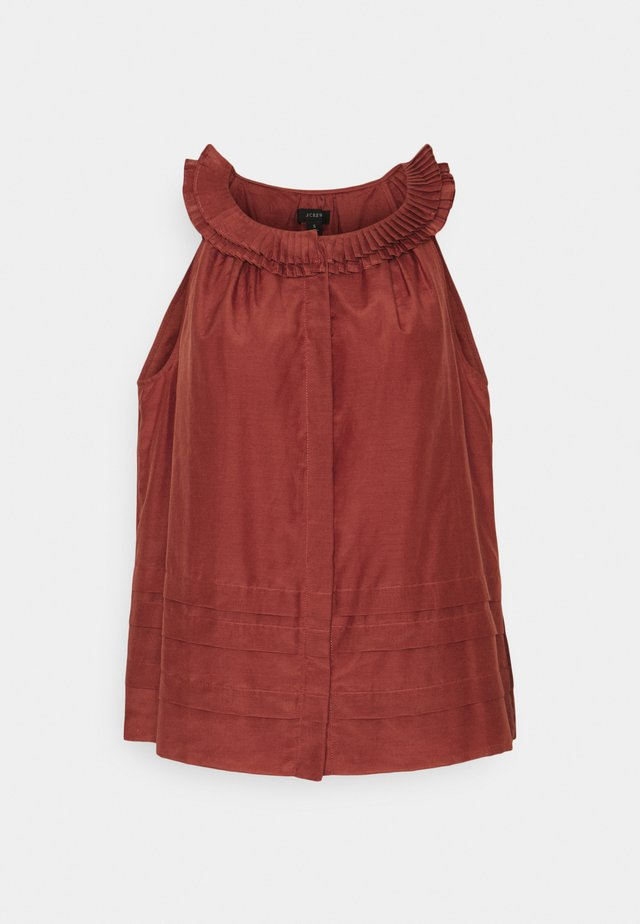 MARAVILLA PLEATED COLLAR  - Bluse - rock red