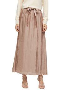 s.Oliver BLACK LABEL - A-line skirt - beige - 4