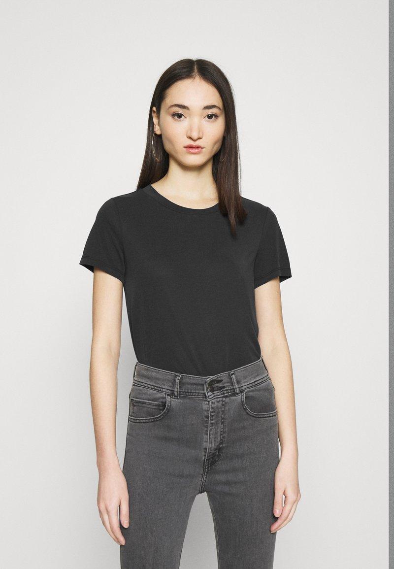Monki - JOLIN  - Basic T-shirt - black dark running