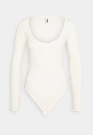 BUTTON UP BODYSUIT - Longsleeve - offwhite