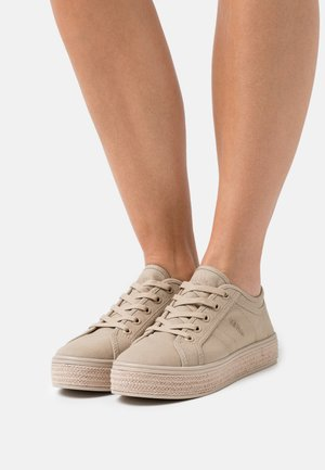 Volnočasové šněrovací boty - nude