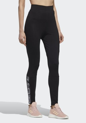 ESSENTIALS TAPE HIGH-RISE LEGGINGS - Medias - black