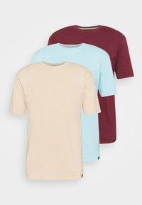 CORE 3 PACK - Jednoduché triko - off white/stone/light blue